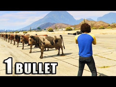 GTA V - How many Animals can survive 1 Bullet? - YouTube