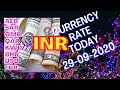 Exchange rate in INDIA 29-09-2020  Currency rate today ...