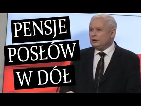 🔥 Jarosław Kaczyński: obniżenie pensji posłów o 20 proc.!