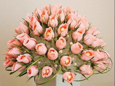 Розы в бутонах  Букет из конфет  Подарок