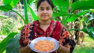 Village Street Food: Red Lentils Pakora Fried Recipe by Village Food Life