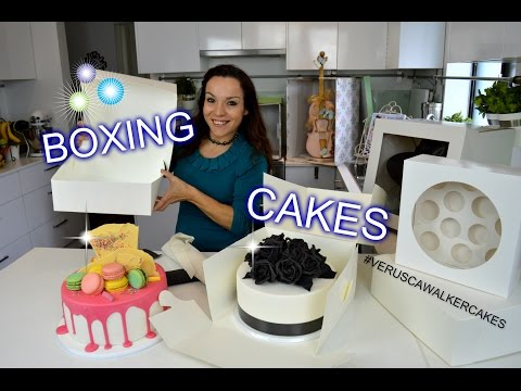 STUNNING & EASY CAKE BOXING AND DELIVERY IDEAS   BY VERUSCA WALKER