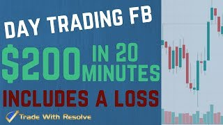 Day Trading Put Options Live:  FB Put Stock Options-How to Make $200 Day Trading