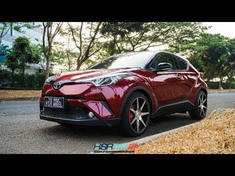 Moodifikasi Toyota CHR Red Menggunakan Velg HSR Wheels