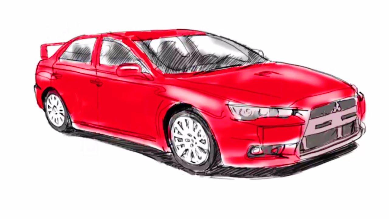 Как нарисовать Mitsubishi! Рисуем Mitsubishi Как Научиться РИСОВАТЬ!