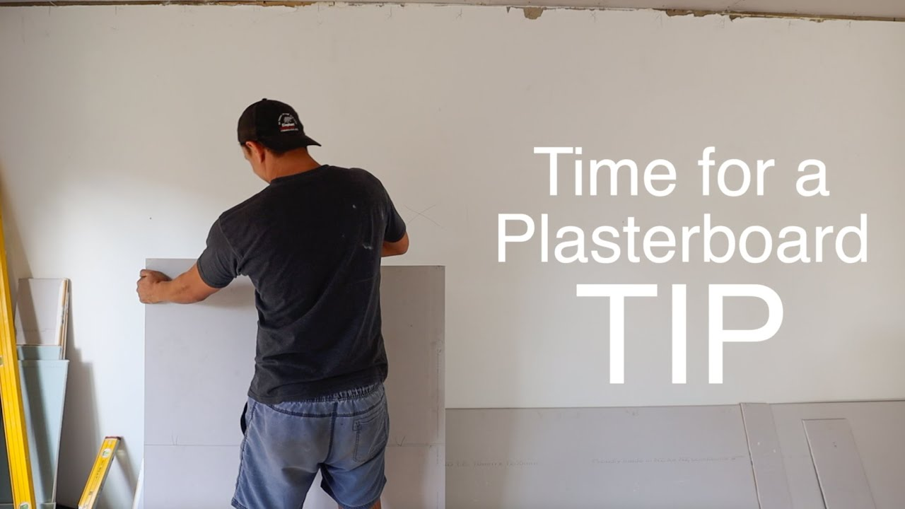 A Tip For Cutting Plasterboard