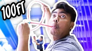 DIY WORLD'S LONGEST STRAW EVER! ~ 100+ FEET LONG!