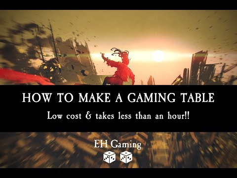 How To Make A Gaming Table Quickly & Cheaply For Wargames, Board Games & TableTop Games