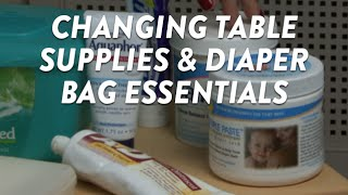 Changing Table Supplies and Diaper Bag Essentials CloudMom