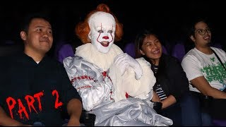 Pennywise invades cinema, jumps in the middle of screening and Sells Movie Tickets! (PART 2)