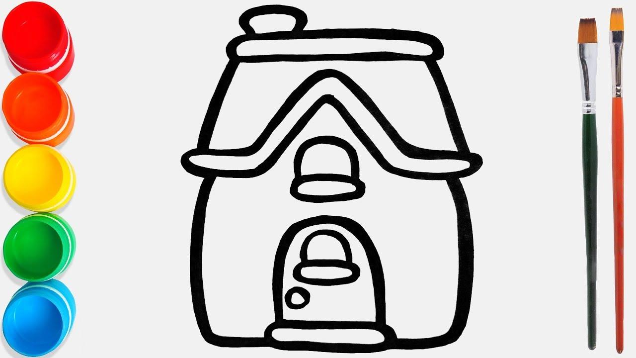 Cara Menggambar Dan Mewarnai Rumah Mainan 29 Video Pendidikan Untuk Anak Anak