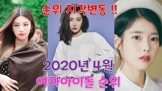 2020년 4월 여자아이돌 순위 !!