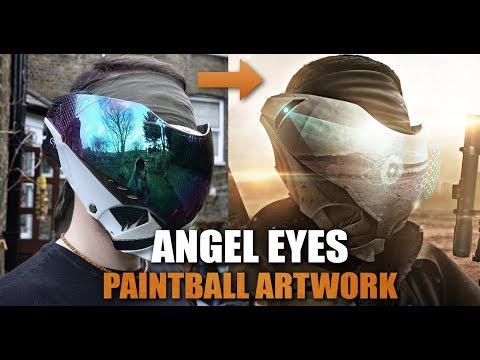 ANGEL EYES ARTWORK -  Post Apocalyptic Paintball Artwork.