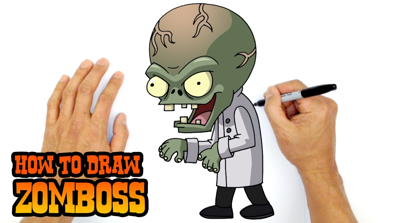 How To Draw Plants Vs Zombies Zomboss Youtube