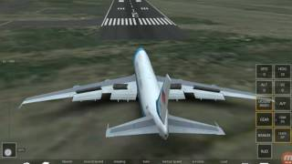 First time playing infinite flight simulator using air force one on android