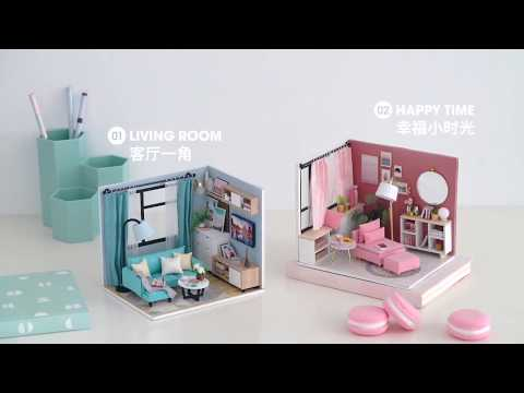 Dollhouse DIY Miniature House Toys for Children DIY Dollhouse Gift