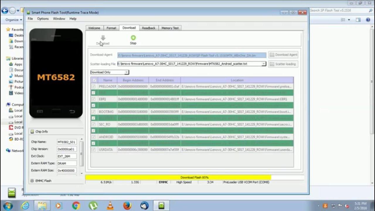 Lenovo tab 2 A7-30HC flashing tutorial