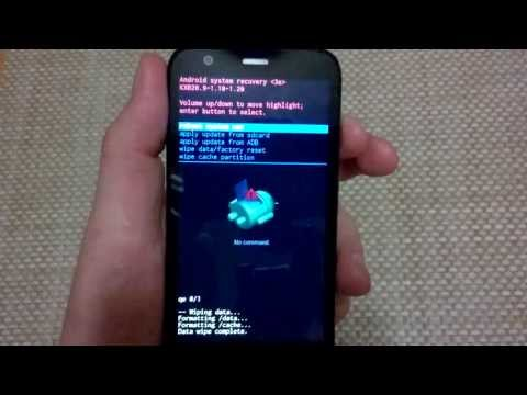 Motorola Moto G alternate factory data hard reset, master reset wipe restore CDMA gsm