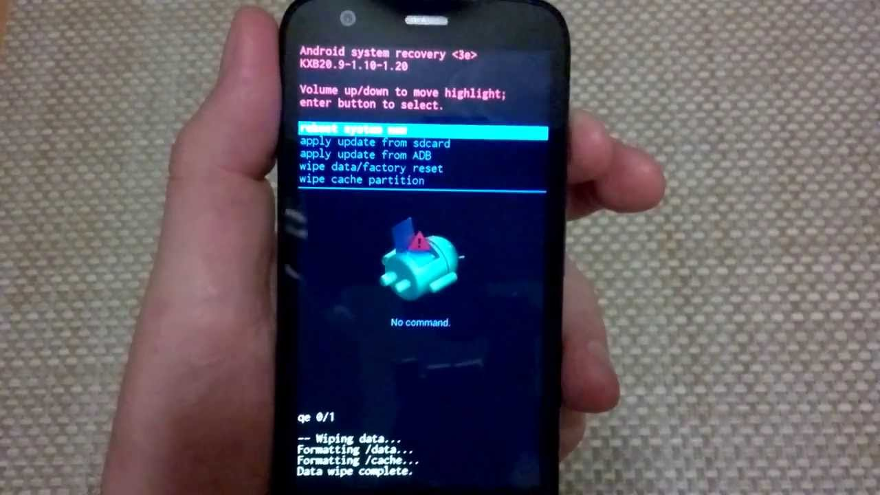 Motorola Moto G alternate factory data hard reset, master reset wipe  restore CDMA gsm