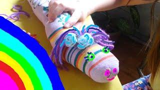 Гусеницы Поделки Детский Канал Видео для Детей Childrens Channel(Дети делают гусениц из колготок., 2016-04-02T09:03:03.000Z)