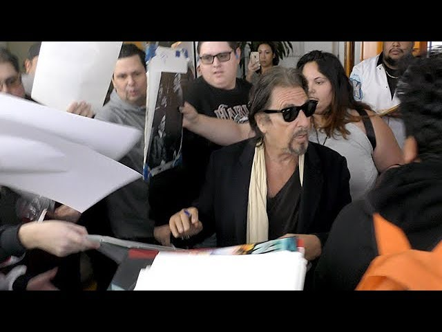 Al Pacino Keeps His Cool As He Is Absolutely Surrounded By Fans