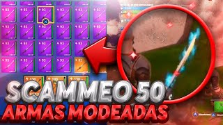 *AWESOME* I SCAMMEO 50 HACKED WEAPONS ? Fortnite Save the World