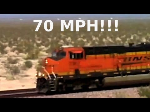 Fast 70 MPH USA Freight Train With Surprise Twist! California/Nevada Dsert