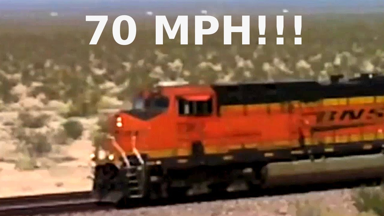 Fast 70 Mph Usa Freight Train With Surprise Twist