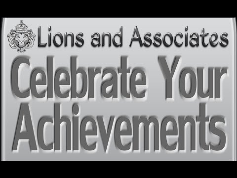 Celebrate Your Achievements Lions Roar Sales Success