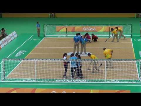 2016 Paralympic Games Goalball Turkey v China 2nd Half