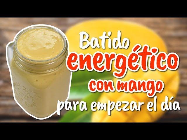 Batido energético con mango y yogur