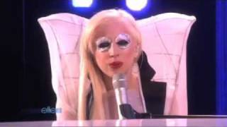 Lady Gaga performs Speechless on The Ellen Show