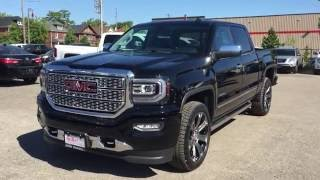 2016 GMC Sierra 1500 Denali Crew Cab 4WD Automatic Running Boards Black Oshawa ON Stock#161085
