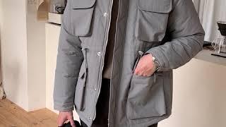 [오더클로젯] 양털 카라 패딩자켓