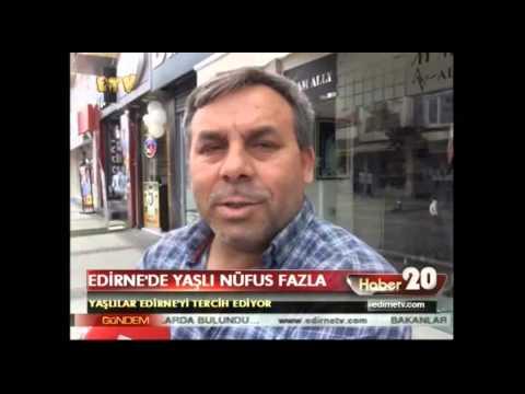 Edirne'de yaşlı nüfus fazla