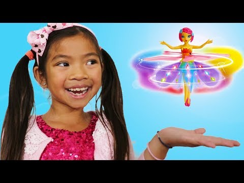 Emma Pretend Play w/ Flying Flutterbye Fairy Deluxe Light Up Doll Girl Toy
