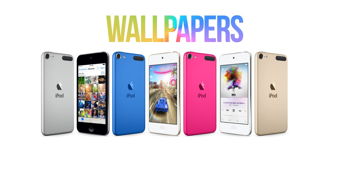 NEW iPod Touch 6th Generation Gold, Pink, Blue & Space Gray - Wallpapers + FREE DOWNLOAD - YouTube