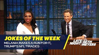 Seth's Favorite Jokes of the Week: Melania Makes a Run for It, Trump's NFL Tirades