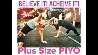 Plus Size PIYO Weight loss Results Support