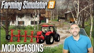 NOUVELLE SÉRIE AVEC LE MOD SAISONS !!! ☀️🍂❄️ - Farming simulator 19
