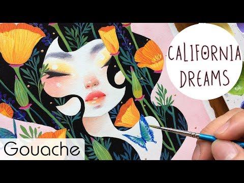 California Dreams // Gouache Painting // Bao Pham