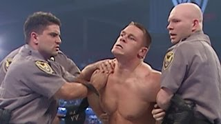 WWE Champion JBL has John Cena arrested for vandalism: SmackDown March 31, 2005 thumbnail