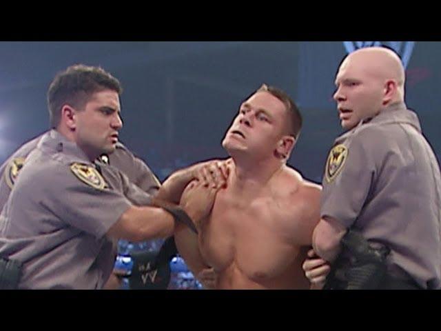 WWE Champion JBL has John Cena arrested for vandalism: SmackDown, March 31, 2005