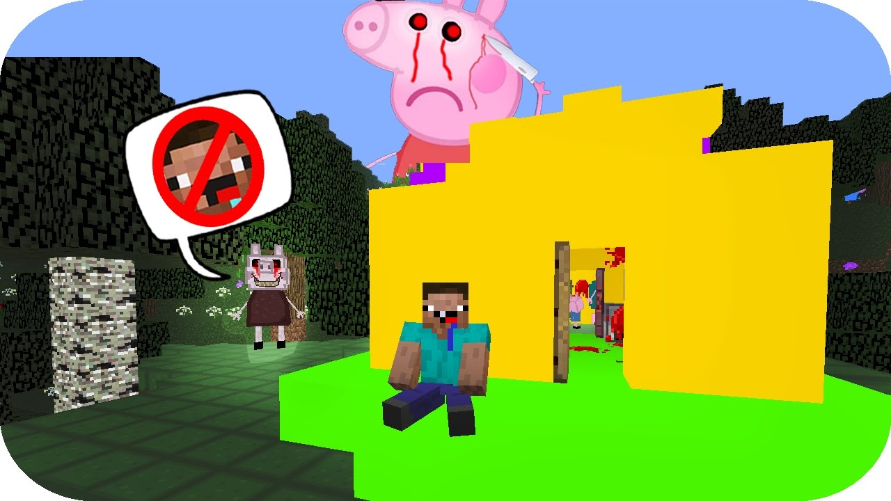 NOOB VS CREEPYPASTA CASA PEPPA PIG MINECRAFT TROLL