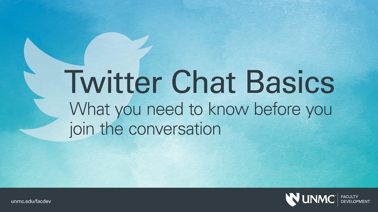 Twitter Chat Basics - YouTube