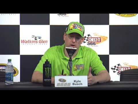 NASCAR Media Interview Watkins Glen Kyle Busch - Let's Talk Racing