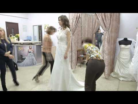 Как убрать шлейф у свадебного платья. Вариант 2