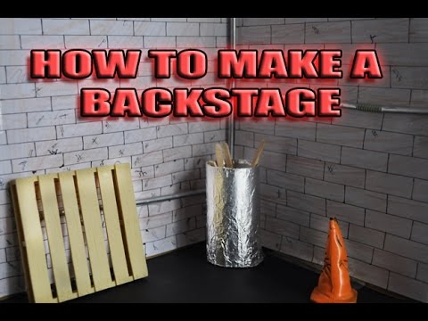 How To Make A Backstage Playset For WWE Figures