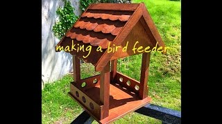 How to make a bird feeder. This video about how I made this bird feeder. Not much explanation going on in this video. I think if you