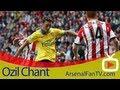 Arsenal FC Mesut Ozil Chant At Debut Match V Sunderland ArsenalFanTV.com
